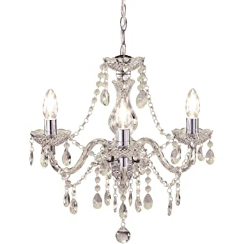 Tuscany Elegant Chandelier Ceiling Light Acrylic Crystal Droplets With 3 Lights Ideal For Living Room Bedroom Dining Room Hallway Amazon Co Uk Lighting