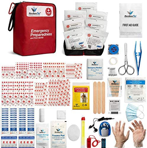 Emergency First Aid Kit Add to Camping Gear Home Dorm Survival Gear and Equipment Hunting Camping product image