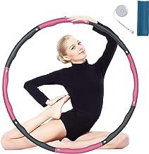 flintronic Hula Hoop, opvouwbare fitnessoefening, gewogen hoola hoepel, afneembaar en maat verstelbaar voor workout sport ...