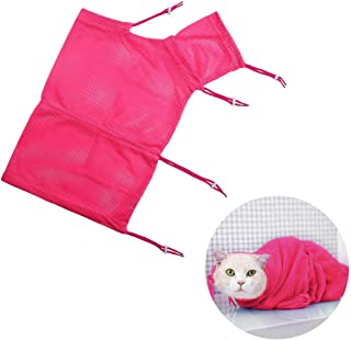 DreamCat Cat Grooming Bag Cat Washing Bag CatRestraintBag with Adjustable Cord, Anti-bite and Anti-Scratch for Cat Bathing Examining Nail Trimming