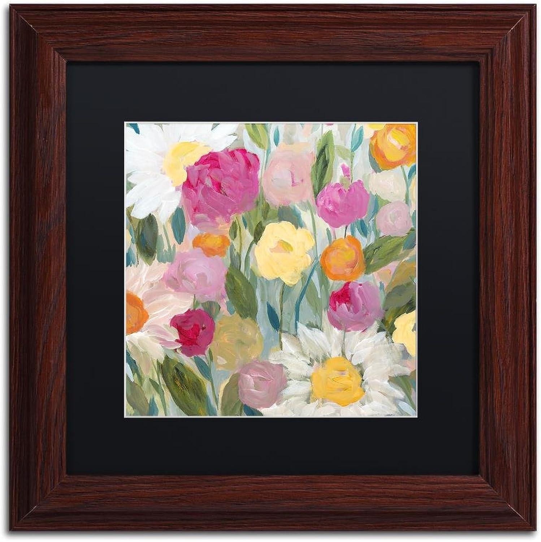 Trademark Fine Art Jubilation by Carrie Schmitt, Black Matte, Wood Frame, 11  X 11