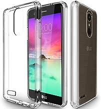 Jeylly LG Stylo 3 Case, LG Stylo 3 Plus Case, LG Stylus 3 Case, LG LS777 Case, Shock-Absorption Hybrid Anti-Scratch Flexible Ultra Slim Fit TPU Grip Bumper Clear Hard Acrylic Cover - HD Clear