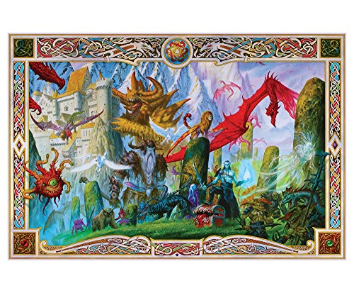 Dungeon Denizens Mythical Monster Puzzle for Adults and Kids | 1000 Piece Jigsaw Puzzle Toy | Fun Quarantine Gifts | Interactive Brain Teaser for Game Night | 28 x 20 Inches