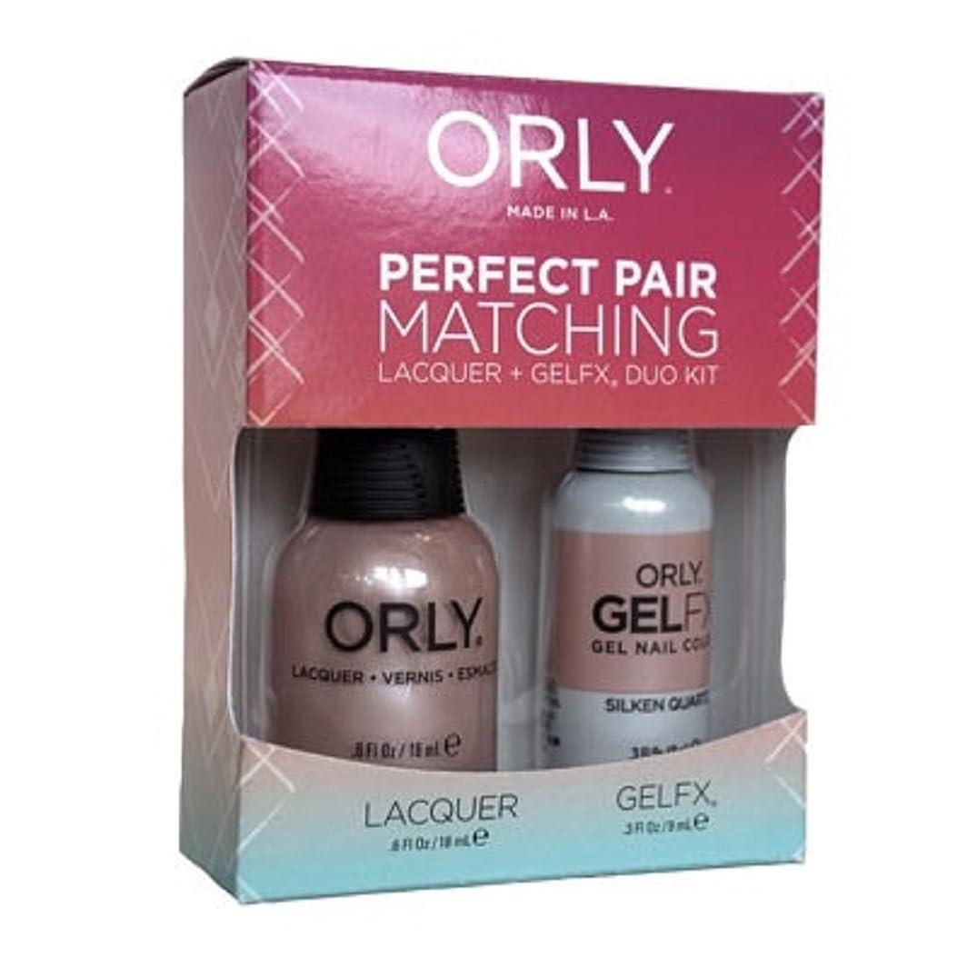 高度火山のクロニクルOrly - Perfect Pair Matching Lacquer+Gel FX Kit - Silken Quartz - 0.6 oz / 0.3 oz