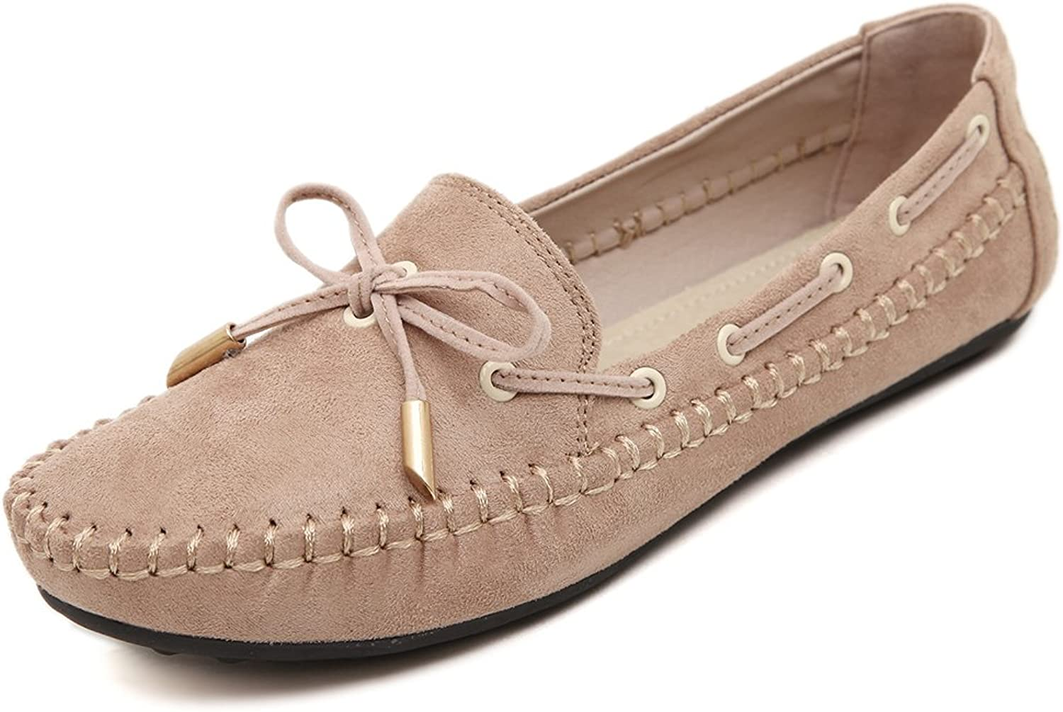 Flats with Bowknot Laces Ballet Flat shoes Slip On Loafers for Women Girls