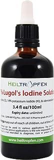 ルゴール液 100mL, 7%ヨウ素および14%ヨウ化カリウムで製造された。Lugol's Iodine Solution
