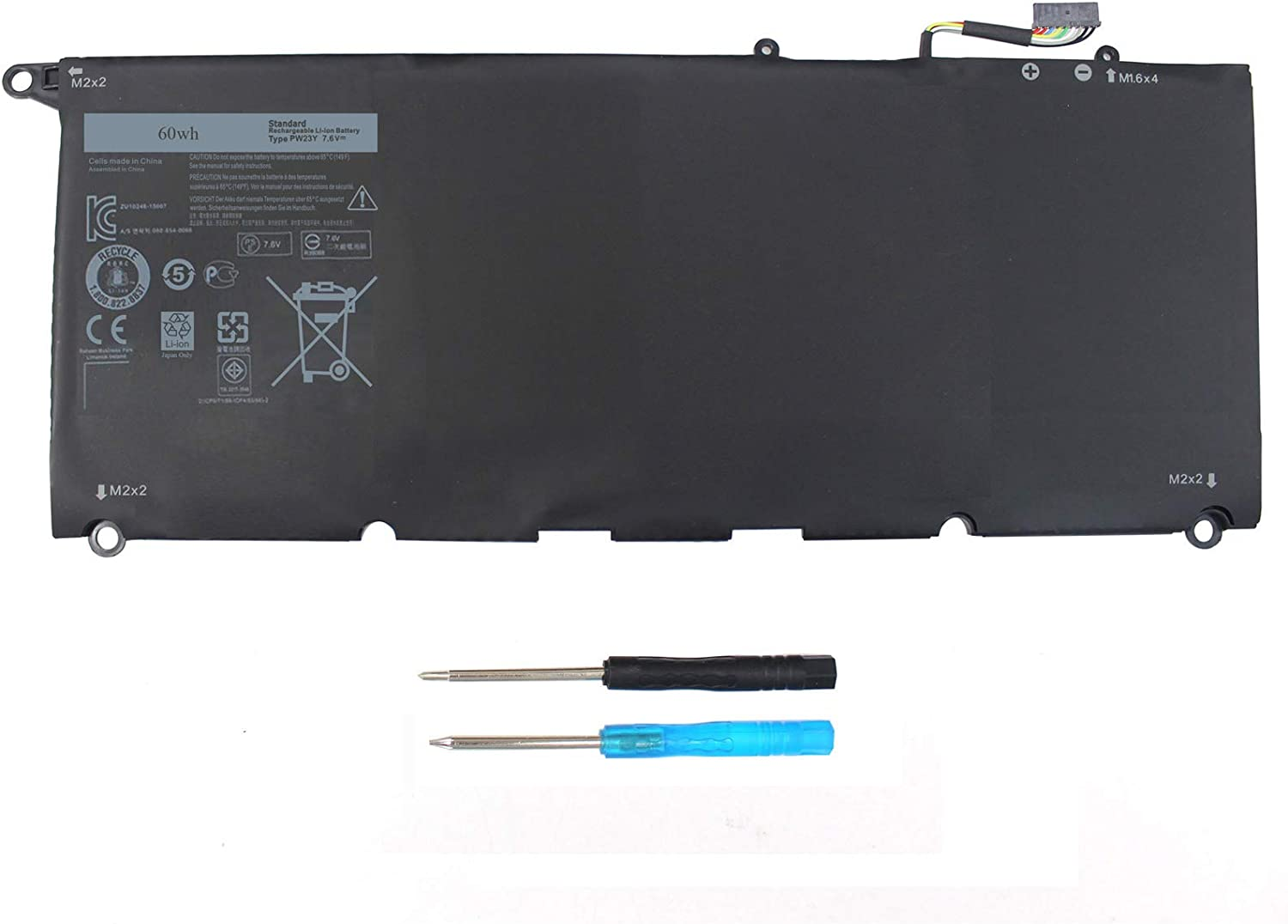PW23Y Laptop Battery Compatible with P54G002 Dell XPS NEW before selling 9360 13 Import