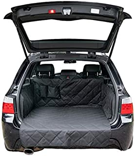 Premium 4-Layer, Non Slip Car Boot Liner for Dogs with Bumper Flap - Car Boot Protector for Dog - Universal Waterproof Car...
