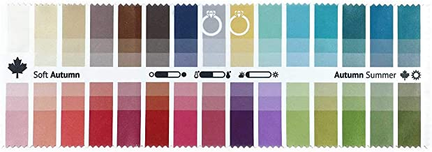 Handy Fabric Color Swatch Soft Autumn with 30 Colors for Color Analysis and Image Consulting