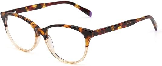 Retro Eyeglasses Optical Frame Spring Hinge Clear Lens RX-able Glasses Men Women