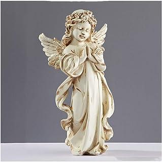 OMING Estatua de Mesa Retro Estilo Europeo Adornos Antigua Figura estatuas American Style Resina Sala de Estar Mobiliari...