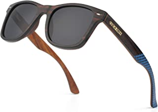 HD Mirrored Polarized Wood Sunglasses for Men and Women...