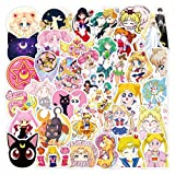 Sailor Moon Anime Girls Stickers | 100PCS | Cute Vinyl Decals for Snowboard, Laptop, Luggage, Car, Motorcycle, Bicycle, Cups DIY Styling Durable Decor