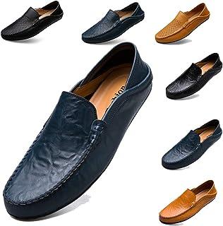 Fashion New Leather Slip On Homme Conduite Mocassins Mocassin Souple Chaussures De Loisirs