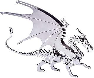 HXZB Spitfire 3D Dragon Puzzle Bricolage Métal Inoxydable Dragon en Acier Occidental Volant MODÉLISME Jigsaw Blocs Creativ...
