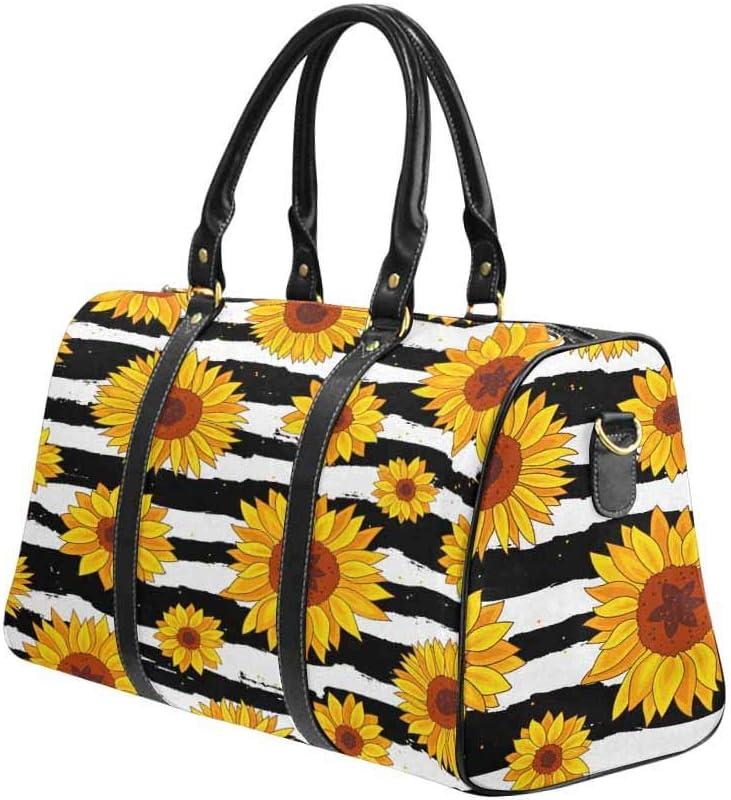 InterestPrint Travel Duffel Long Beach Mall Bag Overnight NEW Fabric Waterproof