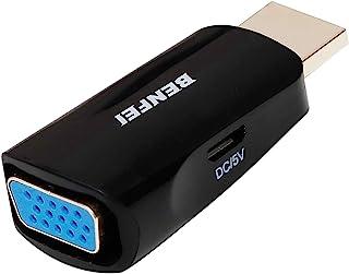 Kompakt HDMI till VGA-adapter, BENFEI HDMI-ingång till VGA-utdataadapter med Micro USB-strömport, kompatibel för PS4, Blu-...