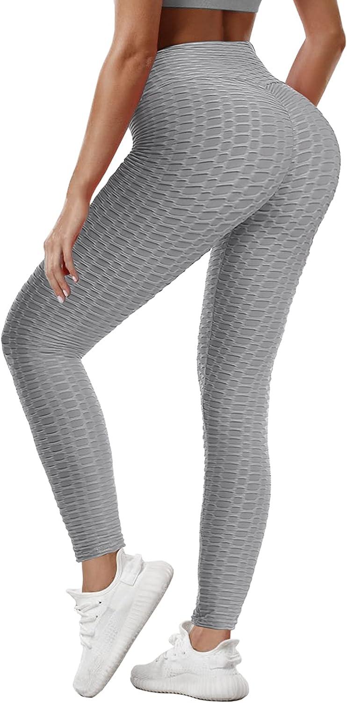 SOMOYA Womens Butt Lifting Leggings High Waist Anti Cellulite TikTok Yoga Pants