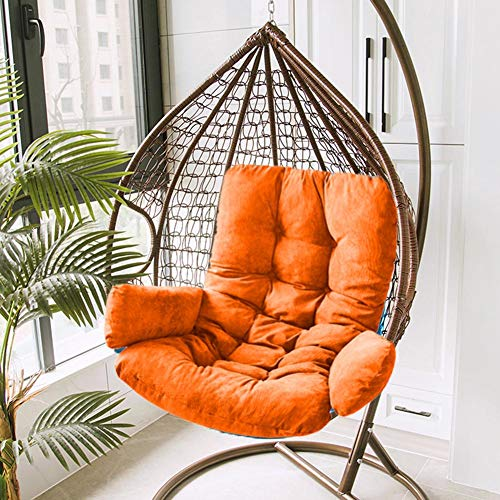 Hanging Basket Cushion with Swing in Thick and Durable Corduroy Sofa Chair Cushion, Egg Shell Hammock, Hanging Chair Cushion, Indoor and Outdoor Cot, Cushion