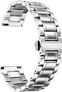 時計バンド ステンレスベルト ウォッチベルト 交換ベルト 腕時計バンド 耐久性高い 錆び難い 肌に優しい クイックリリース メッシュ 男女通用 調整工具付 防水 5色 9サイズ (20mm, シルバー)
