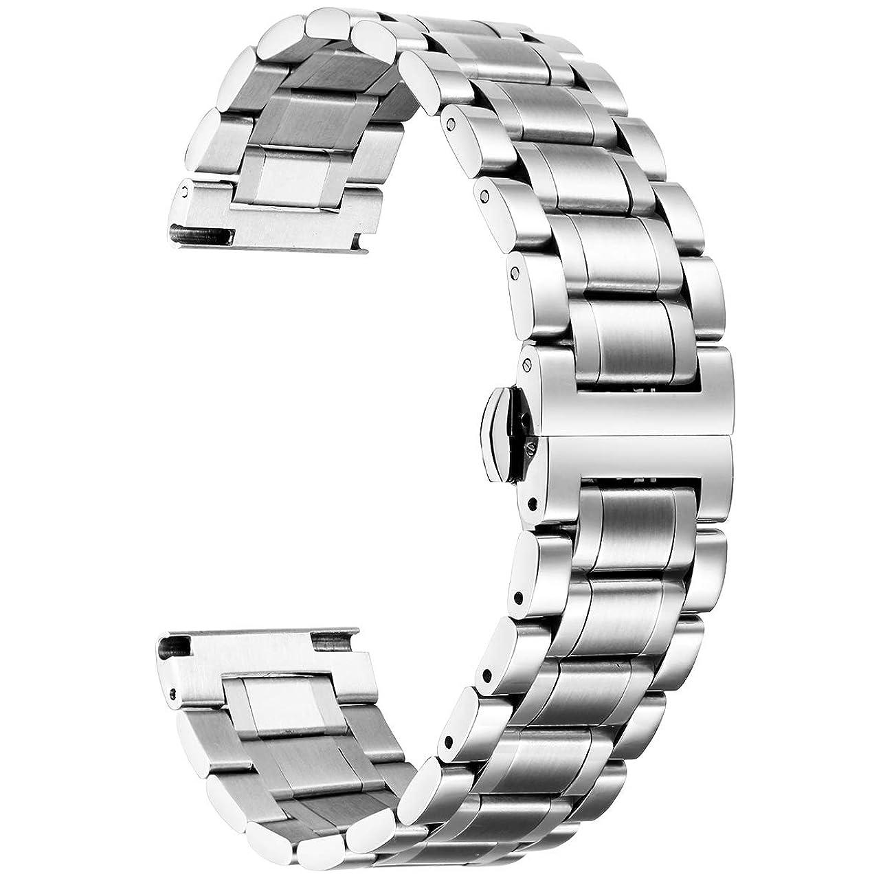 追うカフェ肥料ステンレスベルト ウォッチベルト 交換ベルト 腕時計バンド 防水性 5色 12mm,14mm,16mm,18mm,19mm,20mm,21mm,22mm,24mm