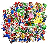 Super Mario Bros Stickers for Water Bottles 50 Pack Cute,Waterproof,Aesthetic,Trendy Stickers for Teens,Girls Perfect for Waterbottle,Laptop,Phone,Travel Extra Durable Vinyl (Mario)