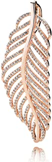 PANDORA Light As A Feather Pendant, Rose TM And Clear Zirconia, 380350CZ
