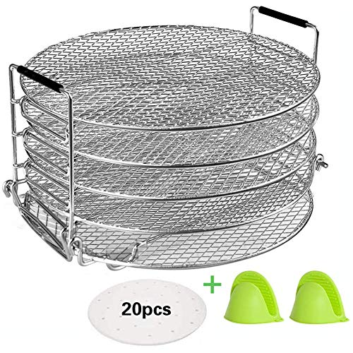 Review Of 5 Tier Dehydrator Stand, Layer Grill, Air Fryer Accessories(6.5Qt-8Qt), for Fruits Vegetab...