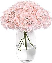 Tifuly Silk Flowers Heads with 12 Long Stems Artificial Hydrangea Flower Head for DIY..