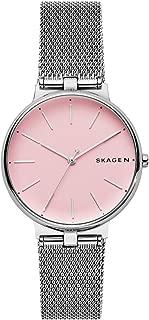 Skagen SKW2708 Reloj Dama, Extensible Acero Plata, Caratula Rosa, Análogo