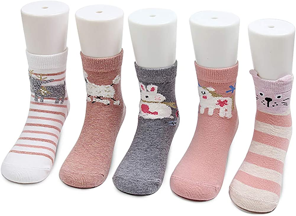 Proboths Babys Kids Socks Cute Carton Patterns Socks Cotton Crew Socks For Girls Boys