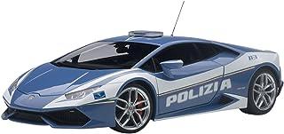 AUTOart–74609–Modellbau–Lamborghini Huracan LP610–4Polizei–2014–Echelle 1/18, Blau/Weiß