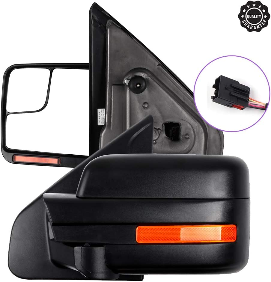 INEEDUP Tow Mirrors Fit for We OFFer at cheap prices 2004-2014 Towing For 5 ☆ very popular F-150 Mirr Ford