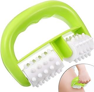 Rouleau de Massage Anti-Cellulite Brosse de Rouleau de Corps Utilisation Humide Sèche pour Massage Réduction de Cellulite,...