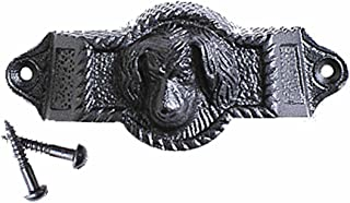 Cabinet Drawer Bin Pull Whimsy Dog Face Wrought Iron 4 Inch Wide Renovators Supply Manufacturing