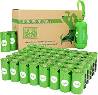 PET N PET Poop Bags 720 Counts Dog Poop Bags Refill Rolls,Biodegradable Dog Waste Bags With 1 Free Biobased Dispenser(The Dispenser Meet Eco-Certified by USDA)