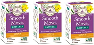 Pack of 3 x Traditional Medicinals Smooth Move SENNA - 50 Capsules