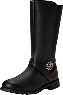 bebe Girl's Boots - Mid-Calf Riding Boots (Little Kid/Big Kid), Size 1, Black'
