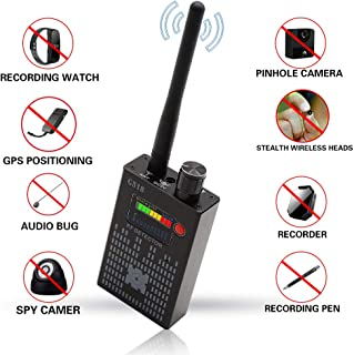 Anti-Spy Wireless RF Signal Detector BUG GPS Hidden camera Signal Detector,for Hidden Camera GSM Eavesdropping Device GPS Radar Radio Scanner Wireless Signal Device Finder(Black)