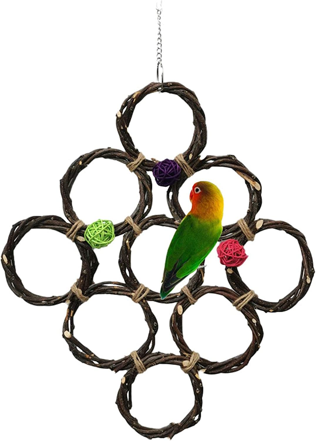 Parrot Swing Hanging Toy Climbing Bird Apple Max 63% Ranking TOP3 OFF From Rope Made