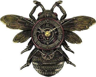 Veronese Design Resin Wall Clocks Steampunk Style Bronze Finish Honeybee Wall Clock 9.75 X 7.25 X