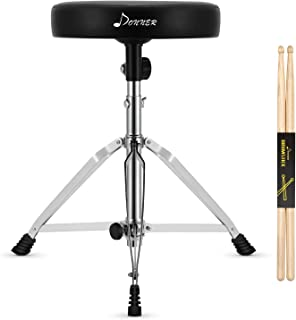 Donner Drum Throne Upgraded, Padded Seat Portable Height Adjustable Drumming Stools for..