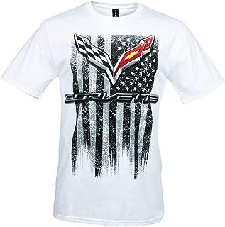 C7 Corvette American Legacy Men's T-Shirt (Large, White)