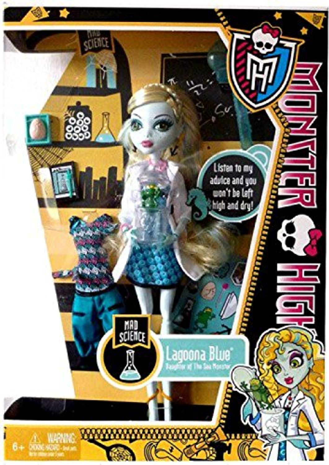 Monster High Lagoona bluee Mad Science Classrom Set by Monster High