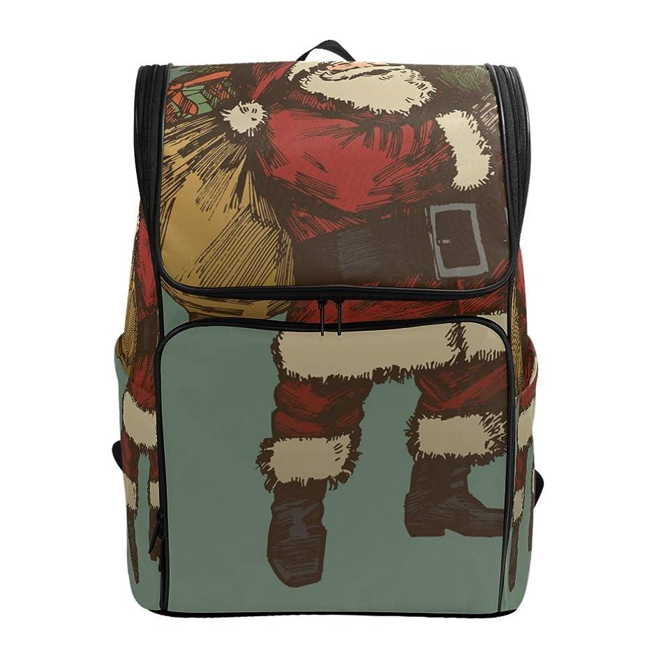 地平線カウンターパート意義リュックレディース メンズ 黒 メリークリスマス サンタクロース 通勤 outdoor 軽量?大容量?防水加工 修学旅行 登山 ビジネス 薄型リュック pc リュック カジュアル 男女兼用