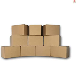uBoxes Medium Moving Boxes, 18 x 14 x 12 inch, 10 Pack, Cardboard Box (BOXMINIMED10)