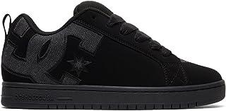 DC Men's Court Graffik SE Skate Shoe, Black/Heather Grey, 11.5D D US