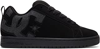 DC Men's Court Graffik SE Skate Shoe, Black/Heather Grey,...
