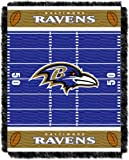 Officially Licensed NFL Baltimore Ravens 'Field' Woven Jacquard Baby Throw Blanket, 36' x 46', Multi Color