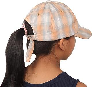 منقوشة القطن قبعة بيسبول لفتاة ذيل الحصان فيزور قبعة مخطط الرياضة الكرة نمط جلين